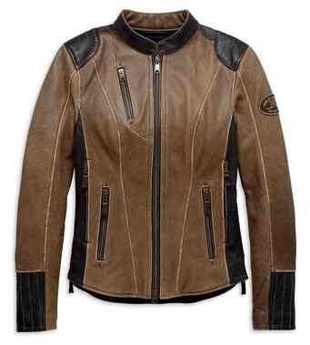 Harley-Davidson Women's Triple Vent System Gallun Leather Jacket 98066-19VW - Wisconsin Harley-Davidson