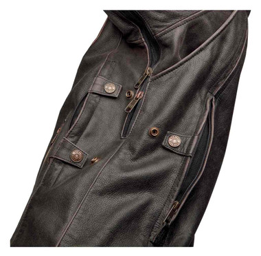 Harley-Davidson Men's Triple Vent System Trostel Leather Jacket 98053-19VM - Wisconsin Harley-Davidson