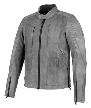 Harley-Davidson Men's Burghal Slim Fit Leather Jacket, Gray 98061-19VM - Wisconsin Harley-Davidson