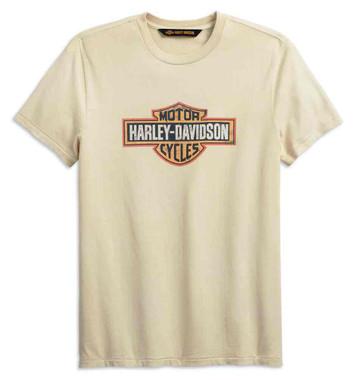 Harley-Davidson Men's Crackle Slim Fit Short Sleeve Tee, Off-White 99001-19VM - Wisconsin Harley-Davidson
