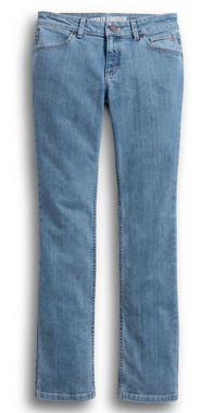 Harley-Davidson Women's Straight Leg Mid-Rise Jeans, Light Indigo 99244-19VW - Wisconsin Harley-Davidson