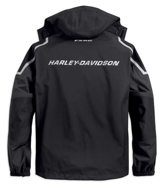 Harley-Davidson Men's FXRG Waterproof & Breathable Rain Jacket, Black 98102-19VM - Wisconsin Harley-Davidson