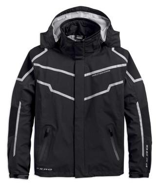 Harley-Davidson Men's FXRG Waterproof & Breathable Rain Jacket, Black 98102-19VM - Wisconsin Harley-Davidson