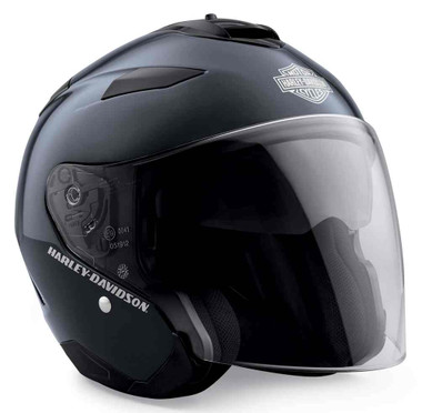 Harley-Davidson Mens Maywood Sun Shield H27 3/4 Helmet, Midnight Blue 98361-19VX - Wisconsin Harley-Davidson