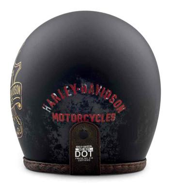 Harley-Davidson Men's Bootlegger's Pass B01 3/4 Helmet, Matte Black 98236-19VX - Wisconsin Harley-Davidson