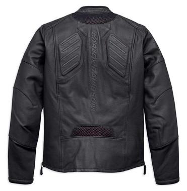 Harley-Davidson Men's FXRG Perforated Slim Fit Leather Jacket, Black 98057-19VM - Wisconsin Harley-Davidson
