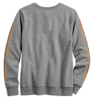 Harley-Davidson Women's Forever Flat Track Pullover Sweatshirt, Gray 99240-19VW - Wisconsin Harley-Davidson