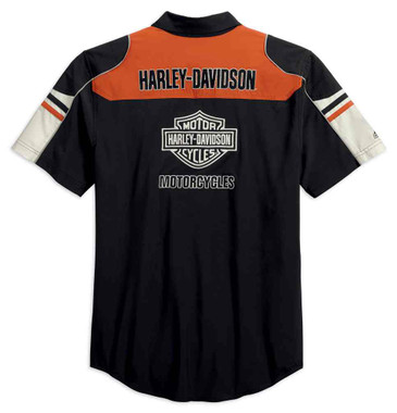 Harley-Davidson Men's Performance Colorblock Shirt w/ Coolcore Tech 99189-19VM - Wisconsin Harley-Davidson