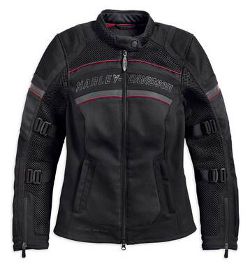 Harley-Davidson Women's FXRG Coolcore Mesh Riding Jacket, Black 98333-19VW - Wisconsin Harley-Davidson