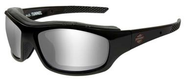Harley-Davidson Men's Tunnel Sunglasses, Silver Flash Lens/Black Frame HDTNL01 - Wisconsin Harley-Davidson