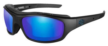Harley-Davidson Mens Tunnel Sunglasses, PPZ Blue Mirror Lens/Black Frame HDTNL12 - Wisconsin Harley-Davidson