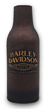 Harley-Davidson Highest Performance Neoprene Zippered Bottle Wrap, Brown BZ33668 - Wisconsin Harley-Davidson