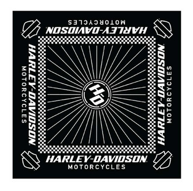 Harley-Davidson Men's Ignition Checkered Flag Bandana - 24 x 24 in BA33488 - Wisconsin Harley-Davidson