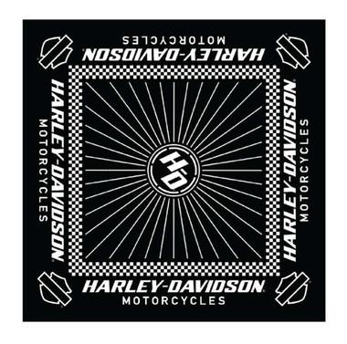 Harley-Davidson Men's Ignition Checkered Flag Bandana - 24 x 24 in BA33488 - Wisconsin Harley-Davidson