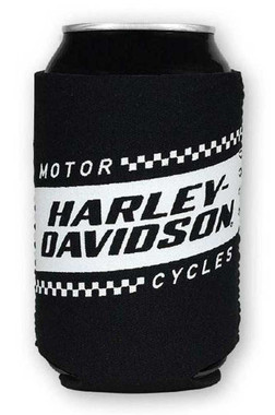 Harley-Davidson Ignition Race Flag Neoprene Can Flat Wrap, Black & White CF33488 - Wisconsin Harley-Davidson