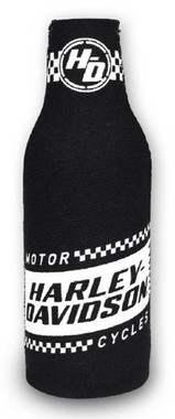 Harley-Davidson Ignition Neoprene Zippered Bottle Wrap, Black & White BZ33488 - Wisconsin Harley-Davidson
