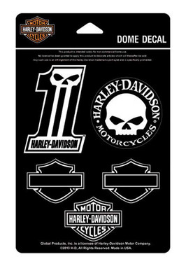 Harley-Davidson Midnight Assortment Dome Decals, 4.5 x 7 inches DC1246 - Wisconsin Harley-Davidson