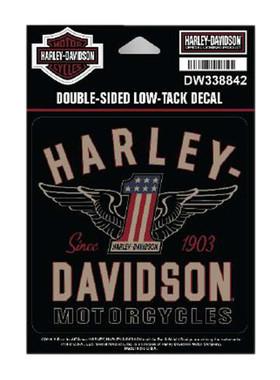 Harley-Davidson RWB #1 Double-Sided Low-Tack Decal, SM Size, 4 x 4 in. DW338842 - Wisconsin Harley-Davidson