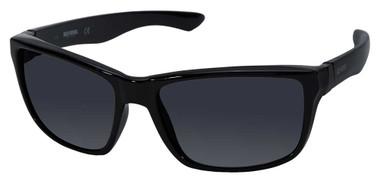 Harley-Davidson Men's Sport Wrap Sunglasses, Shiny Black Frame & Smoke Lenses - Wisconsin Harley-Davidson