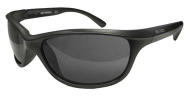 Harley-Davidson Men's Sport Wrap Sunglasses, Matte Gray Frame & Smoke Lenses - Wisconsin Harley-Davidson