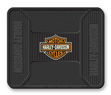 Harley-Davidson Elite Series Orange Bar & Shield Logo Utility Mat - Black P1242 - Wisconsin Harley-Davidson
