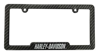 Harley-Davidson Carbon Fiber Look H-D Metal License Plate Frame CG42575 - Wisconsin Harley-Davidson