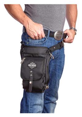 Harley-Davidson Side Slinger 2-IN-1 Shoulder Bag / Leg Holster - Black 98223 - Wisconsin Harley-Davidson