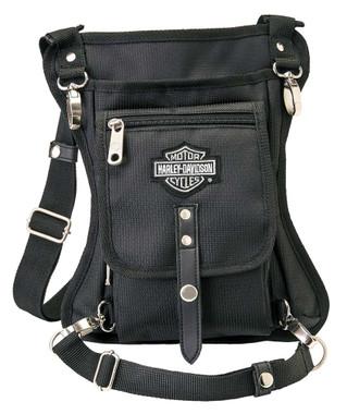 Harley-Davidson Side Slinger 2-IN-1 Shoulder Bag / Leg Holster - Black 98223 - Wisconsin Harley-Davidson