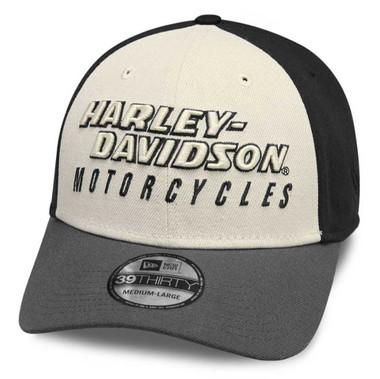Harley-Davidson Men/'s H-D Badge Colorblocked Trucker Baseball Cap BCC34394