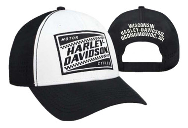 Black//Orange BCC09564 Harley-Davidson Men/'s Embroidered HD Hexagon Baseball Cap