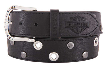 Harley-Davidson Women's Eclipse Genuine Leather Belt, Black HDWBT11656 - Wisconsin Harley-Davidson