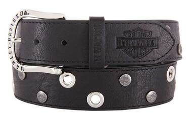 Harley-Davidson Women's Eclipse Genuine Leather Belt, Black HDWBT11656 - Wisconsin Harley-Davidson