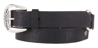 Harley-Davidson Women's Luna Looped Genuine Leather Belt, Black HDWBT11657 - Wisconsin Harley-Davidson