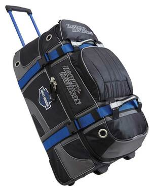 Harley-Davidson Blue & Black Wheeled Water-Resistant Lightweight Travel Luggage - Wisconsin Harley-Davidson