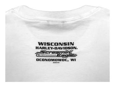 Harley-Davidson Men's Screamin' Eagle Long Sleeve Crew-Neck Shirt, White R003410 - Wisconsin Harley-Davidson