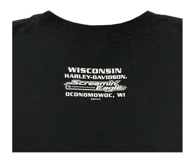 Harley-Davidson Men's Screamin Eagle Racing Sleeveless Tee, Black R003411 - Wisconsin Harley-Davidson