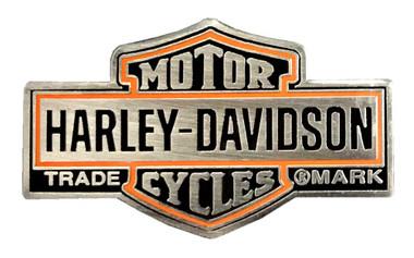 Harley-Davidson 1.5 in. Trademark Bar & Shield Logo Pin, Antique Finish 8008932 - Wisconsin Harley-Davidson