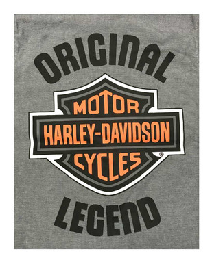 Harley-Davidson Big Boys' B&S Short Sleeve Chambray Shop Shirt, Gray 1091929 - Wisconsin Harley-Davidson