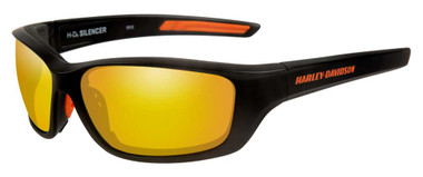 Harley-Davidson Men's Silencer Sunglasses, Orange Lens/Matte Black Frame HASIL14 - Wisconsin Harley-Davidson