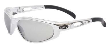 Curv Unisex Riders Snug Sunglasses - Silver Mirror Lenses & Chrome Frame 01-22 - Wisconsin Harley-Davidson