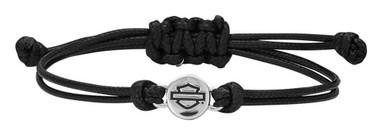 Harley-Davidson Women's Bar & Shield Outline Circle Wax Cord Bracelet HDB0404 - Wisconsin Harley-Davidson