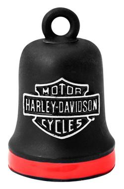 Harley-Davidson Bar & Shield Red Stripe Ride Bell - Black Finish HRB101 - Wisconsin Harley-Davidson