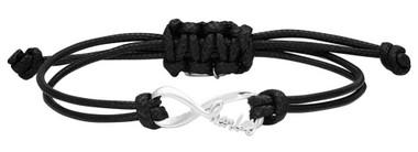 Harley-Davidson Women's Harley Infinity Wax Adjustable Cord Bracelet HDB0423 - Wisconsin Harley-Davidson