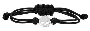 Harley-Davidson Women's Willie G Skull Wax Adjustable Cord Bracelet HDB0416 - Wisconsin Harley-Davidson