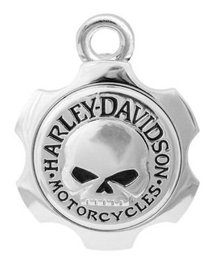 Harley-Davidson Axel Shape Willie G Skull Ride Bell - Silver Finish HRB100 - Wisconsin Harley-Davidson