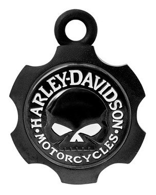 Harley-Davidson Axel Shape Willie G Skull Ride Bell - Black Finish HRB099 - Wisconsin Harley-Davidson