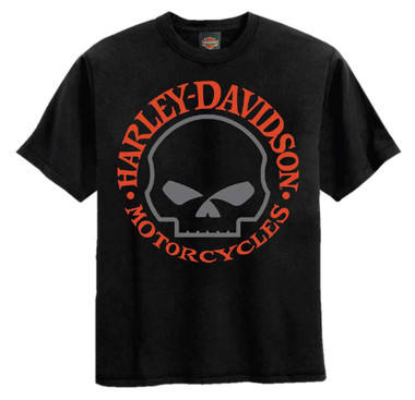 Harley-Davidson Little Boys' Willie G Skull Short Sleeve Tee, Solid Black - Wisconsin Harley-Davidson