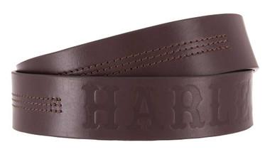 Harley-Davidson Men's Heritage Stitched Genuine Leather Belt HDMBT11623-BRN - Wisconsin Harley-Davidson