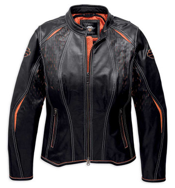 Harley-Davidson Women's Harker Perforated Leather Jacket w/ Coolcore 97043-19VW - Wisconsin Harley-Davidson