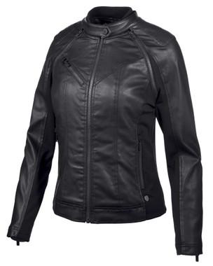 Harley-Davidson Women's Coated Denim Convertible Jacket - Black 97509-19VW - Wisconsin Harley-Davidson